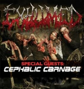 Exhumed e Cephalic Carnage