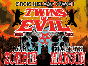 Twins Of Evil Marylin Manson e Rob Zombie