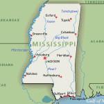 Mississippi cartina