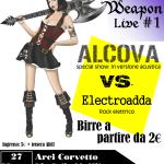 Locandina Secret Weapon Live 27 marzo 2015 ver