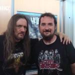 Tom Angelripper dei Sodom insieme a Cristian Danzo