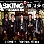 Banner 2 ASKING ALEXANDRIA + August Burns Red + In Hearts Wake RockGarage HUB 10 ottobre