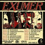 Exumer tour 2016 blue rose saloon