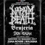 Campaign For Musical Destruction Tour unica tappa italiana con NAPALM DEATH, BRUJERIA e IRON REAGAN