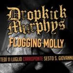 Dropkick Murphys e Flogging Molly 11 luglio 2017 carroponte