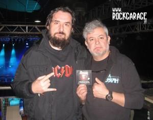 Paulo Jr dei Sepultura con Cristian Danzo per RockGarage