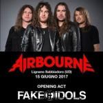 Airbourne + fake idols 15 giugno 2017