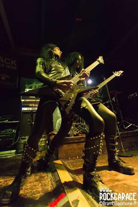 Milan, Italy. 2st June, 2017. Swedish metal band Toxic Rose performs at Blue Rose Saloon. Brambilla Simone Photography Live News