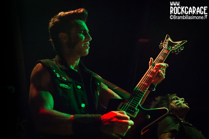 Milan, Italy. 2st June, 2017. Italian metal band Junkie Dildoz performs at Blue Rose Saloon. Brambilla Simone Photography Live News