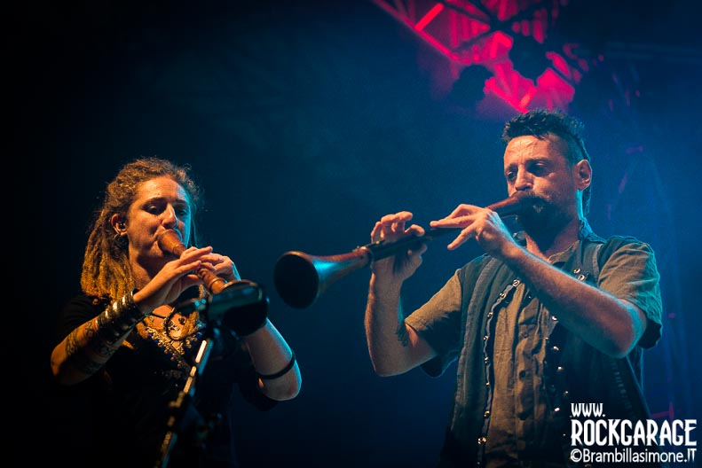Bergamo, Italy. 15 July 2017. Italian Folk Metal band Folkstone performs at the Ambria Music Festival. Brambilla Simone Photography Live News