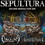 SEPULTURA – annunciano il Machine Messiah Tour 2018!