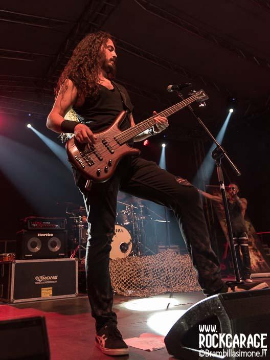 Bergamo, Italy - June 29, 2018: The Italian power metal band LIONSOUL performs at BIRRANBANDA Festival of Sanpaolo d'Argon (BG). Brambilla Simone Live News photographer
